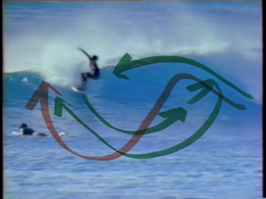 バテンスの独特なサーフィンにおけるラインどり考察
