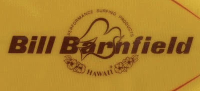 Billbarnfieldのサーフボードロゴ