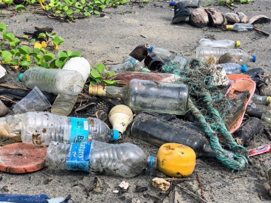 プラスチックゴミで覆われた美しい地球