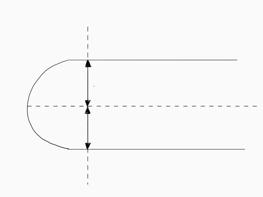 サーフボードレールの比率の違いについて説明