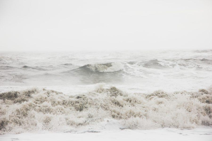 オンショアの波の例